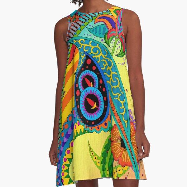 Design 51 single colored with bg A-Line Dress