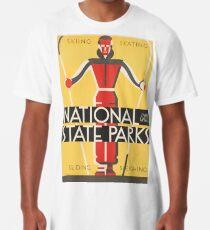 National & State Parks Vintage Poster Long T-Shirt