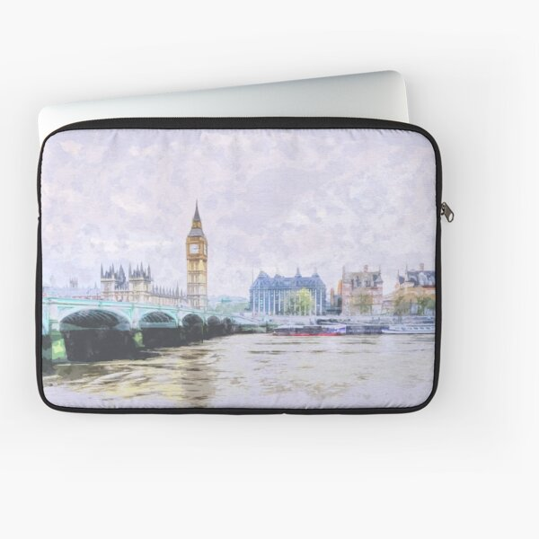 Big Ben and Westminster Bridge London England Laptop Sleeve