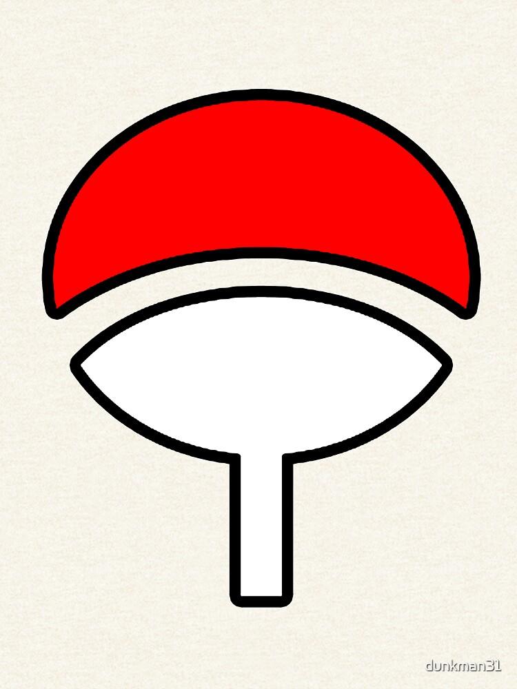 Uchiha Clan Symbol Naruto Zipped Hoodie By Dunkman31 Redbubble