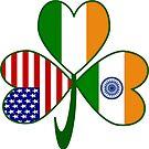 Indian Irish USA Flag Shamrock by AuntieShoe