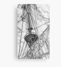 Ships Mast Metal Print