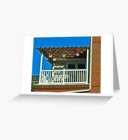 Happy balcony Greeting Card