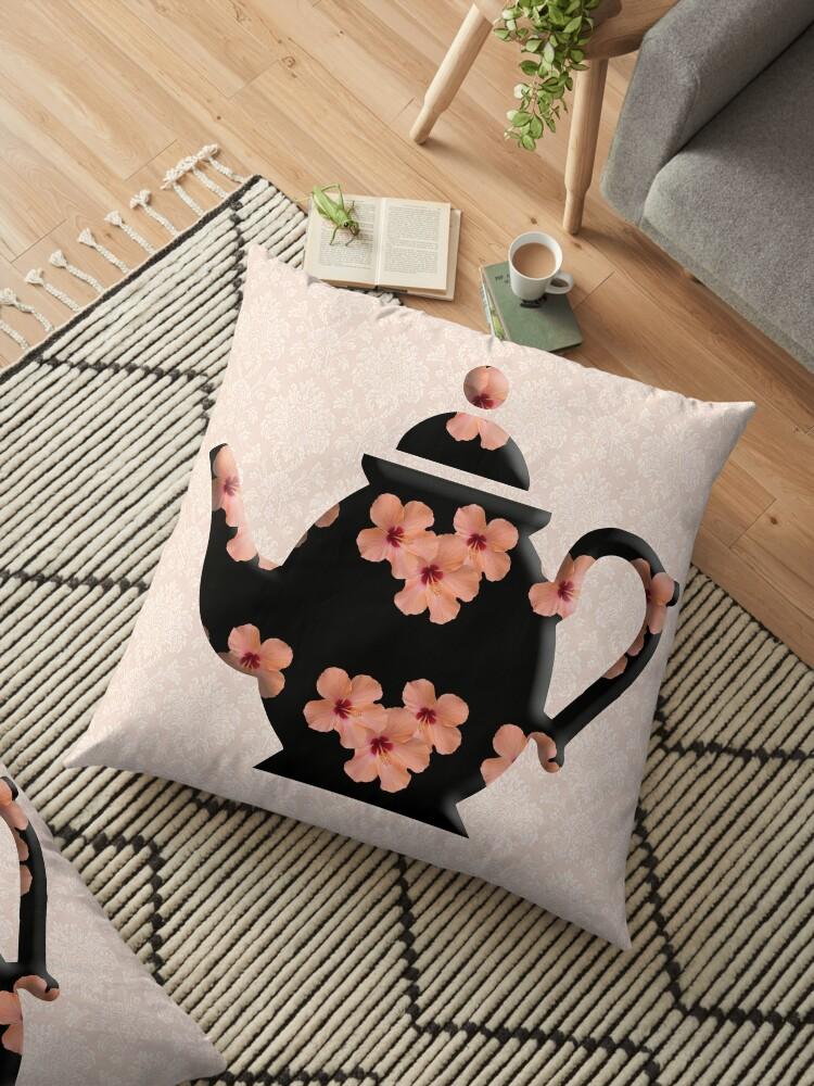 Hibiscus Pattern Teapot by admurphyphotos