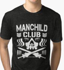 Manchild Club (Grayskull Edition Without Drop Shadow) Tri-blend T-Shirt