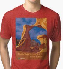 Vintage poster - Grand Staircase-Escalante Tri-blend T-Shirt