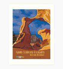 Vintage poster - Grand Staircase-Escalante Art Print