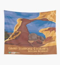Vintage poster - Grand Staircase-Escalante Wall Tapestry