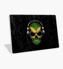 Dj Skull with Jamaican Flag Laptop Skin