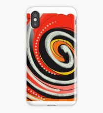 Vortex rouge iPhone Case/Skin