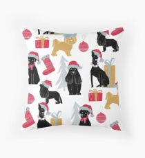 Merry Christmas Dog in scandinavian style. Throw Pillow