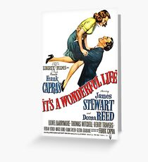 It's a wonderful life, Christmas movie poster Greeting Card