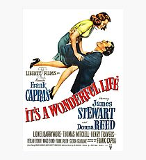 It's a wonderful life, Christmas movie poster Photographic Print