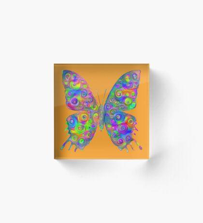 #DeepDream Motley Butterfly Acrylic Block