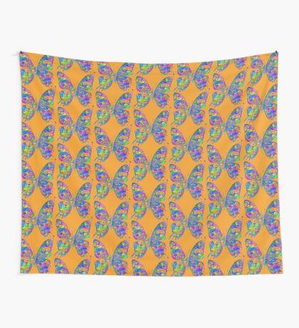 #DeepDream Motley Butterfly Wall Tapestry