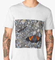 Two black and orange butterflies Men's Premium T-Shirt
