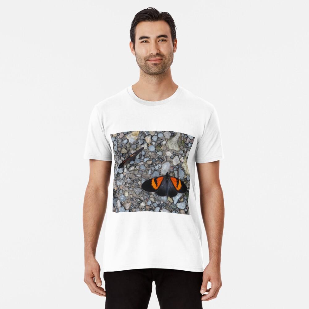 Two black and orange butterflies Premium T-Shirt