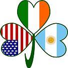 Argentine Irish USA Shamrock by AuntieShoe
