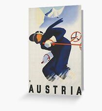 Austria Ski Greeting Card
