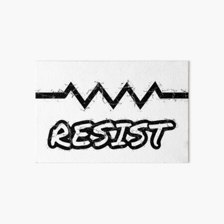 Resist with Electrical Resistor Component Symbol  Art Board Print