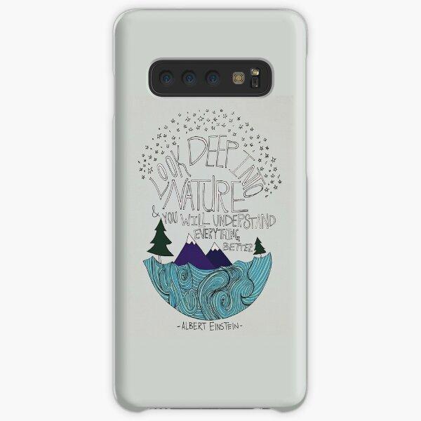 Look Deep into Nature Quote Samsung Galaxy Snap Case