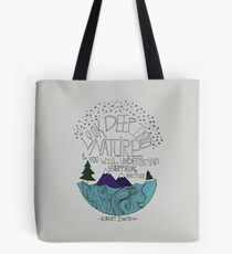 Einstein: Nature Tote Bag