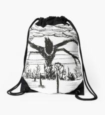 Stranger Monster Drawstring Bag
