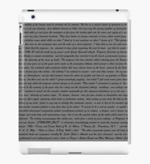 HP Lovecraft Cthulhu Text  iPad Case/Skin