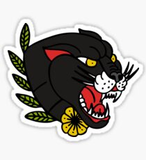 panther traditional tattoo flash Sticker