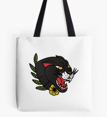 panther traditional tattoo flash Tote Bag