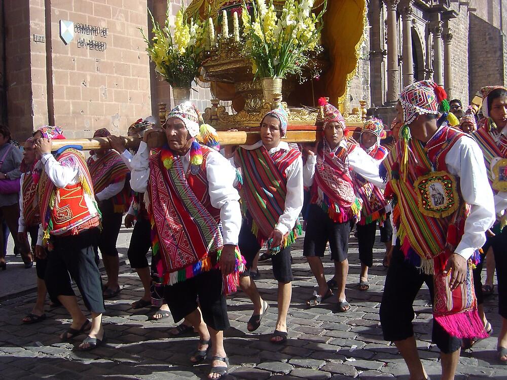 Corpus Cristi fiesta in Cusco, Peru by mojgan