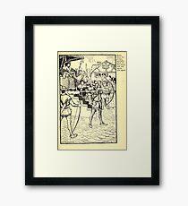 Robin Hood and his Merry Men by Maude Radfor Warren art Milo Winter 1914 0091 Carefully Chose Arrows Framed Print