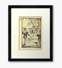 Robin Hood and his Merry Men by Maude Radfor Warren art Milo Winter 1914 0012 Springtime in England Framed Print