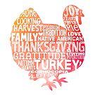 Thanksgiving Turkey Word Cloud by jitterfly