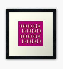 Beans design elements : pink, brown Framed Print
