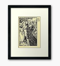 Robin Hood and his Merry Men by Maude Radfor Warren art Milo Winter 1914 0065 A Beautiful Wedding Under the Greenwood Tree Framed Print