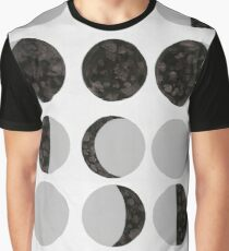 Moon Phases Chart - Light Graphic T-Shirt
