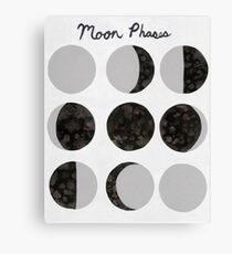 Moon Phases Chart - Light Canvas Print