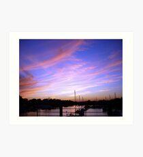 Annapolis Sunset sky  Art Print