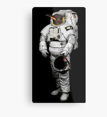 Space Penguin Hoodie Metal Print