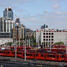 San Diego Trolley Station by Jan  Wall