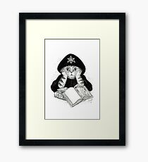 Aleister Meowly Framed Print