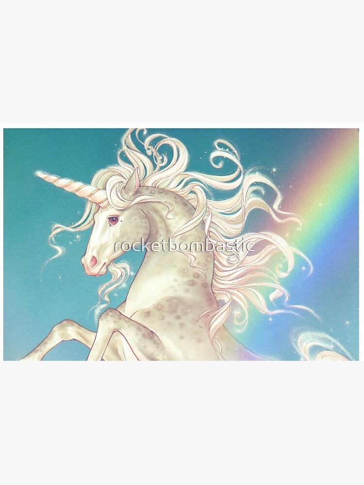 Vintage Rainbow Unicorn by rocketbombastic