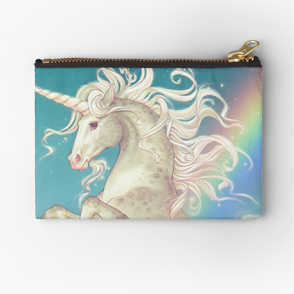 Vintage Rainbow Unicorn Zipper Pouch