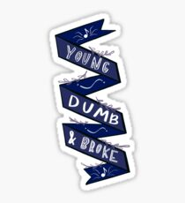 Young, dumb, & broke Sticker