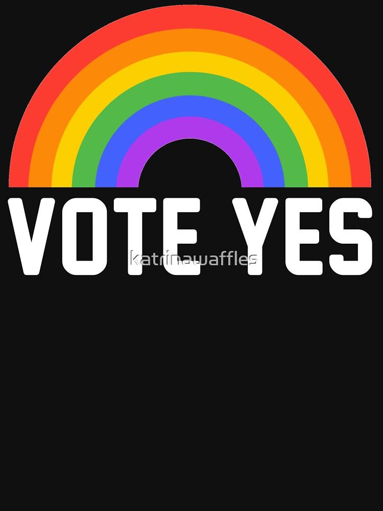 vote yes rainbow by katrinawaffles