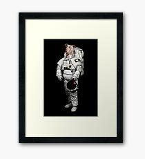 Space Pit Bull Terrier Hoodie Framed Print