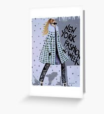 New York Fashion Week Greeting Card