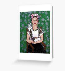 Frida cat lover Greeting Card