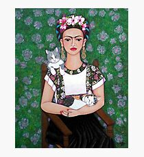 Frida cat lover Photographic Print